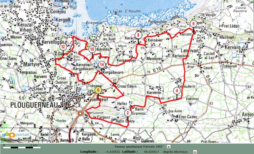 Circuit N 176 2 15 6 Km Plouguerneau D Hier Et D Aujourd Hui